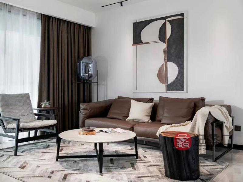 钦驰意式极简客厅沙发皮沙发高端时尚M907