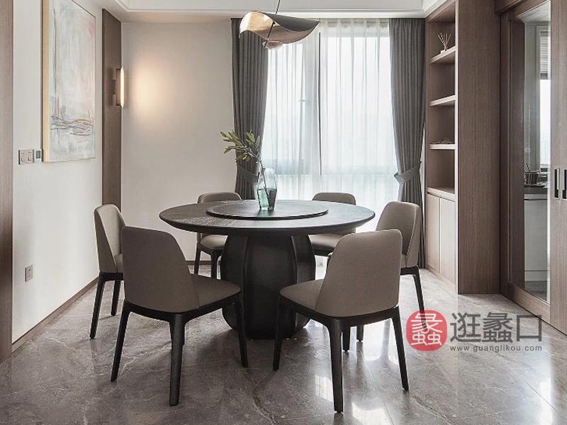 钦驰意式极简餐厅餐桌椅时尚设计白蜡木餐桌150