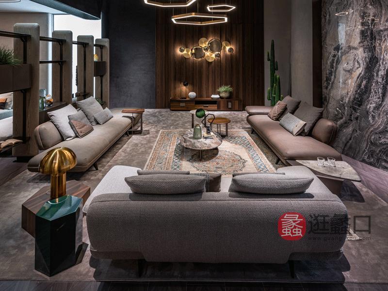 环宸轻奢客厅沙发个性前卫设计造型沙发皮质沙发1978