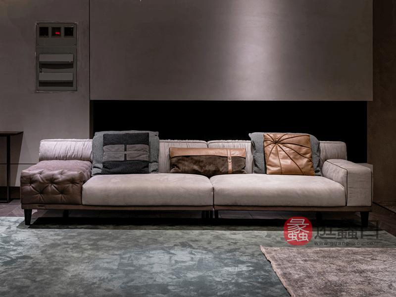 环宸轻奢客厅沙发时尚造型设计沙发软体皮质沙发189