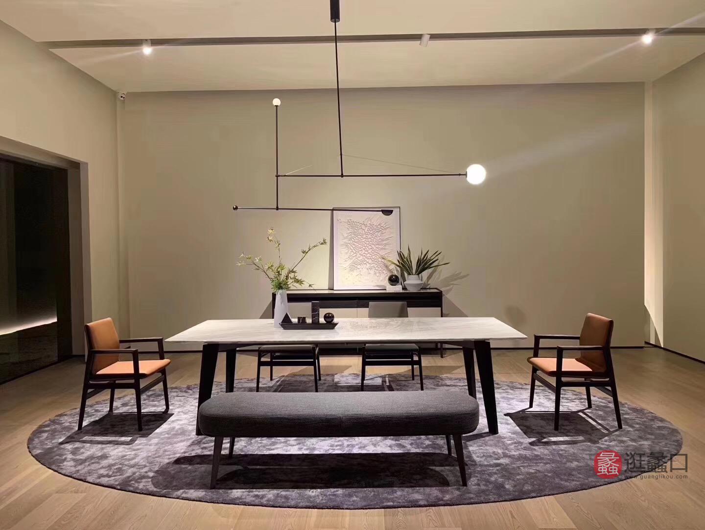 钦驰意式极简餐厅餐桌椅时尚高档大理石餐桌C508