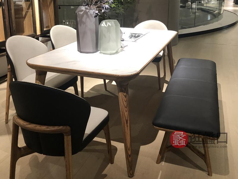 应氏家居-极简时尚系列意式现代极简餐厅餐桌椅026