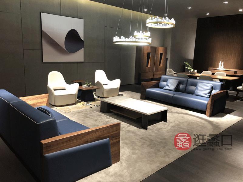 应氏家居-极简时尚系列意式现代极简客厅沙发YS004
