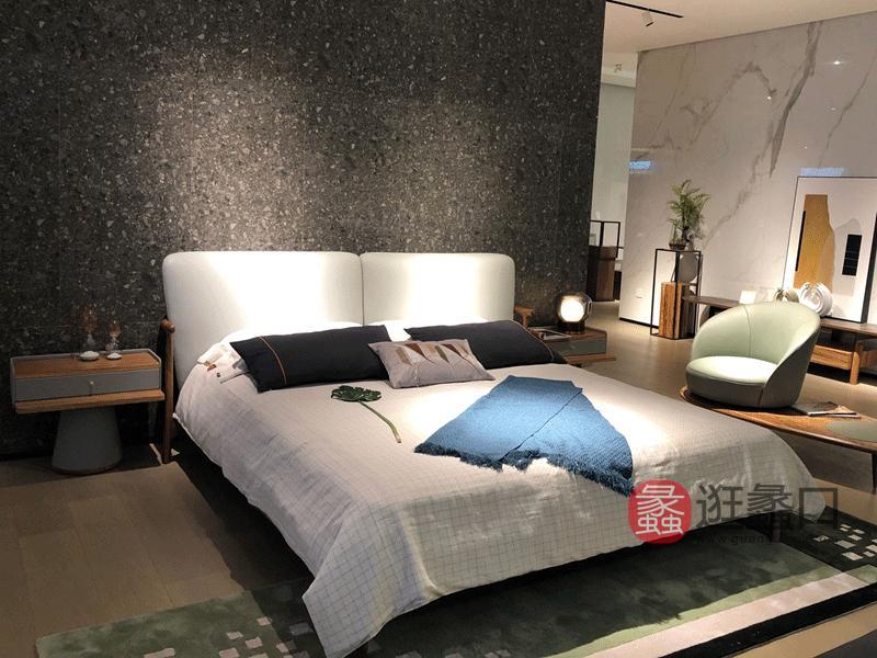 应氏家居-极简时尚系列意式现代极简卧室床YS005