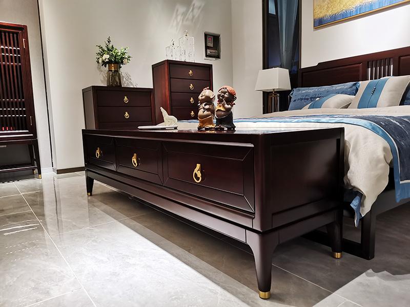 澜起家具新中式实木简约实用置物收纳卧室电视机柜DG-01