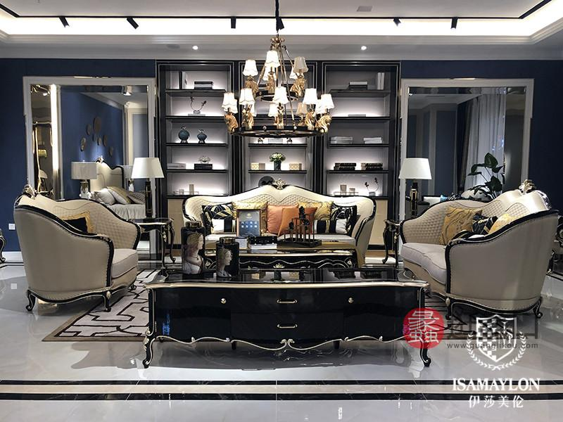 健辉家居·伊莎美伦家具欧式新古典家具欧式客厅双人位/单人位/四人位实木沙发/茶几ML007
