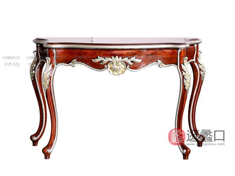健辉家居·伊莎美伦家具欧式新古典家具欧式客厅榉木沙发背几MYCJ-J18-4