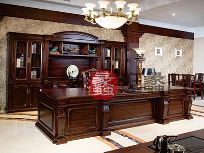 新思维办公家具 汉玛思 伯爵系列实木总裁桌实木大班台