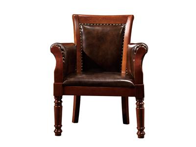 榞野美墅家具 美式超具性价比书房金丝木801大班椅
