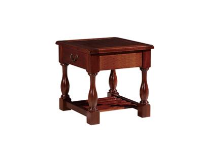 榞野美墅家具 美式客厅金丝木全实木雕刻茶边几