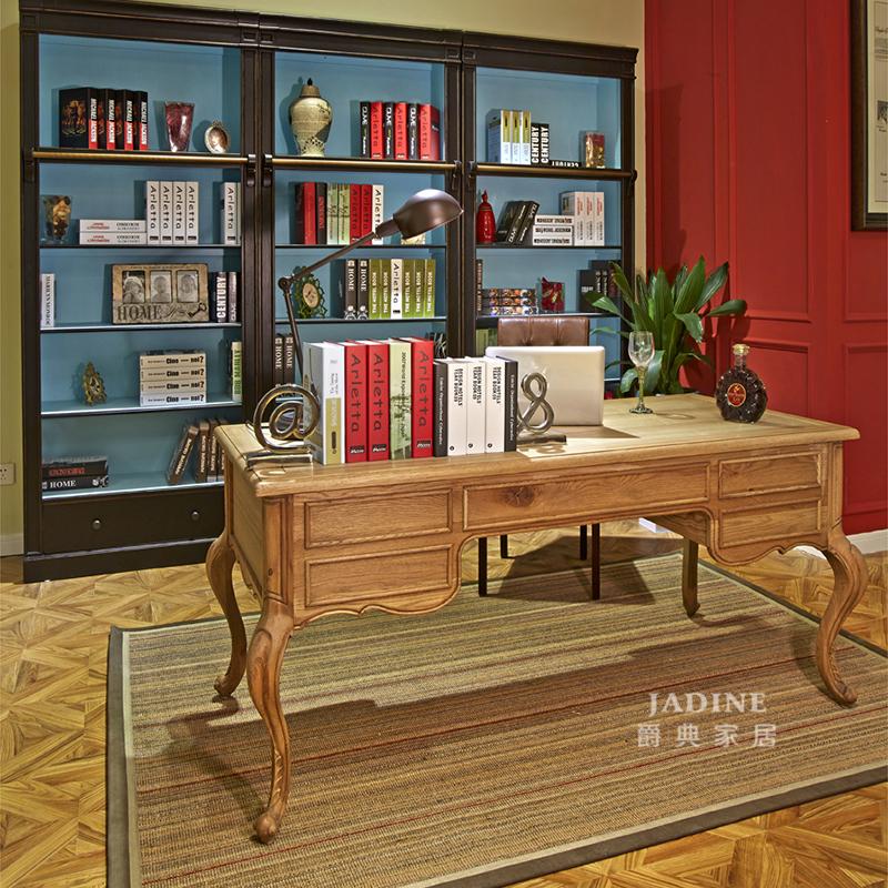 90空间家具·爵典家居 美式书房实木书桌椅