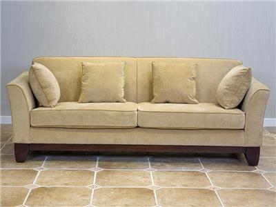 90空间家具·爵典家居 美式客厅软体布艺三人位沙发