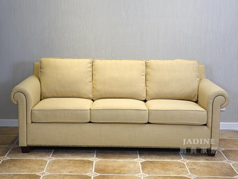 90空间家具·爵典家居 美式客厅1+2+3布艺软体沙发组合