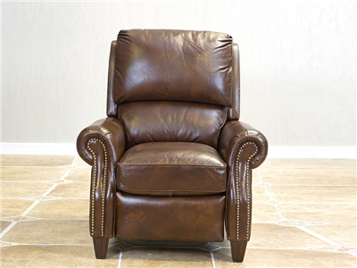 PULASKI家具·爵典家居 美式(简美)客厅真皮单人位多功能沙发