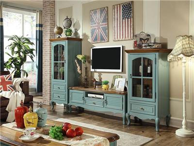 PULASKI家具·爵典家居 美式客厅实木电视机柜