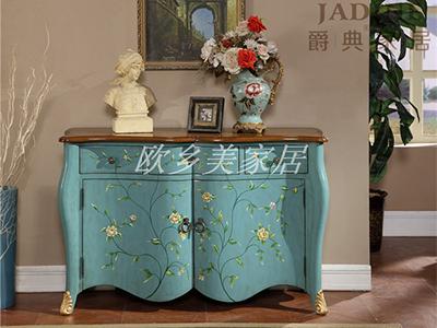 PULASKI家具·爵典家居 美式客厅实木储物柜/复古门厅玄关柜