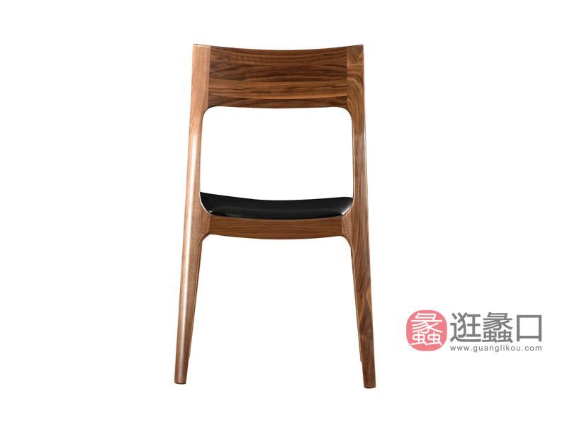 汉斯格尔家具北欧餐厅餐桌椅黑胡桃木餐椅餐厅餐椅DC-604餐椅