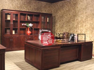 定制 【价格面议】可定制 汉玛思 平安系列 实木总裁桌实木大班台办公中式古典书房书桌椅