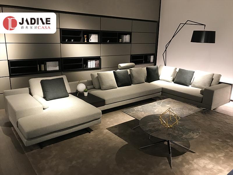 爵典家居·莫的米兰意式现代极简客厅沙发