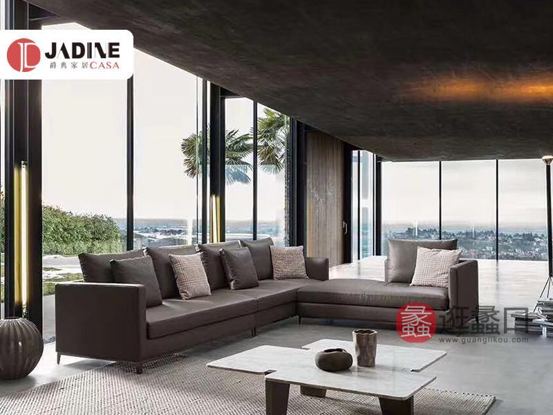 爵典家居·莫的米兰意式现代极简客厅沙发07