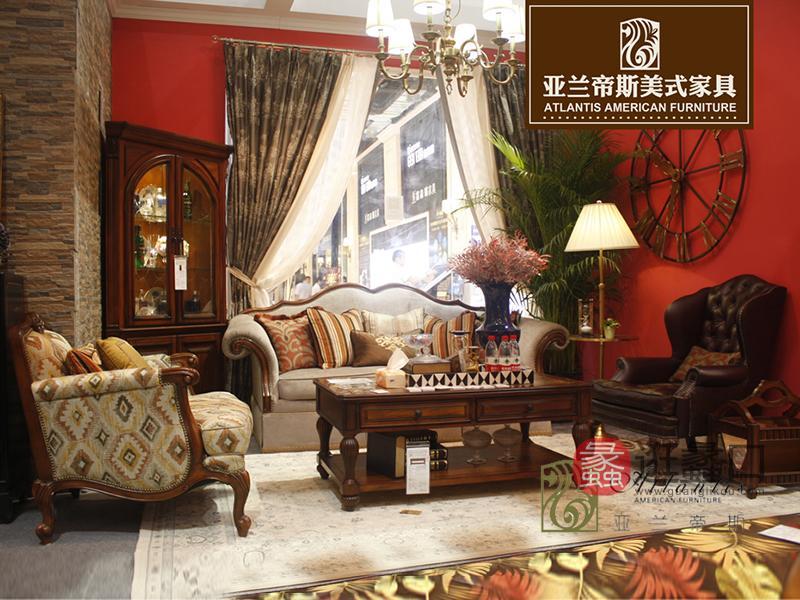 亚兰帝斯家具鹅掌楸全实木水性漆皮沙发双人位/三人位/单人位沙发组合K4733混搭沙发/茶几
