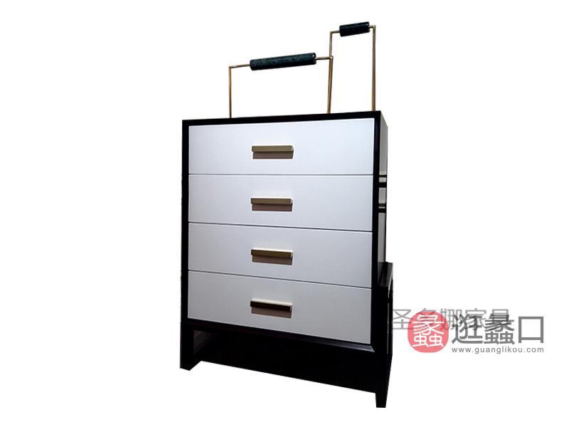 健辉家居·圣多娜轻奢家具美式简约餐厅桃花芯木实木餐边柜SDN015