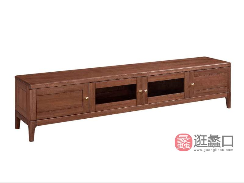 柏森优品LD+实木南美胡桃木中式客厅电视机柜H3702C