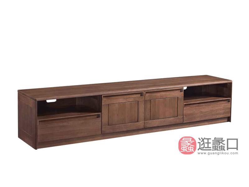 柏森优品LD+实木中式客厅电视机柜H3707C