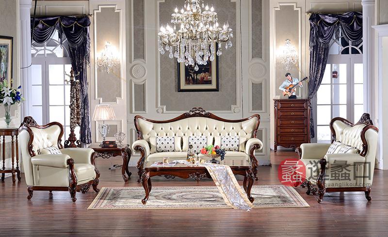 名人居(万芬好)·润达名家居欧式客厅M611沙发双人位/三人位/单人位M611长几 M611方几