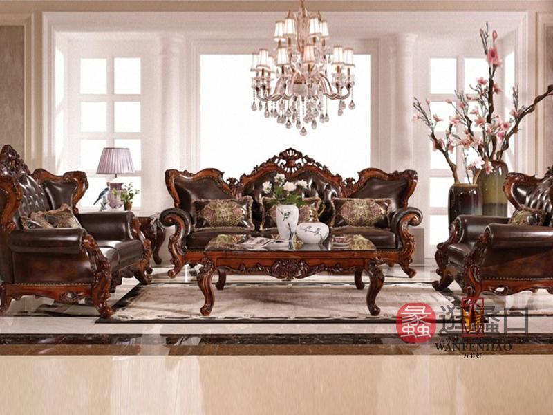 名人居(万芬好)·润达名家居简欧奢华客厅实木雕花双人位/三人位/单人位沙发茶几R-MRJ-SF-4