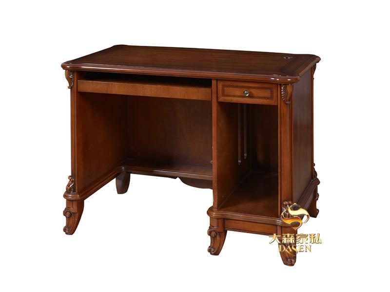 大森家私家具简欧小美书房德国红榉木 书桌椅 电脑台D02-DN