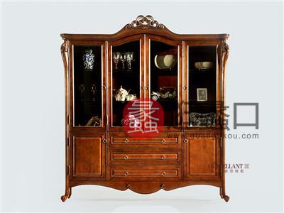 君诺家居·欧思格蓝家具美式品质餐厅实木实木四门酒柜/装饰柜