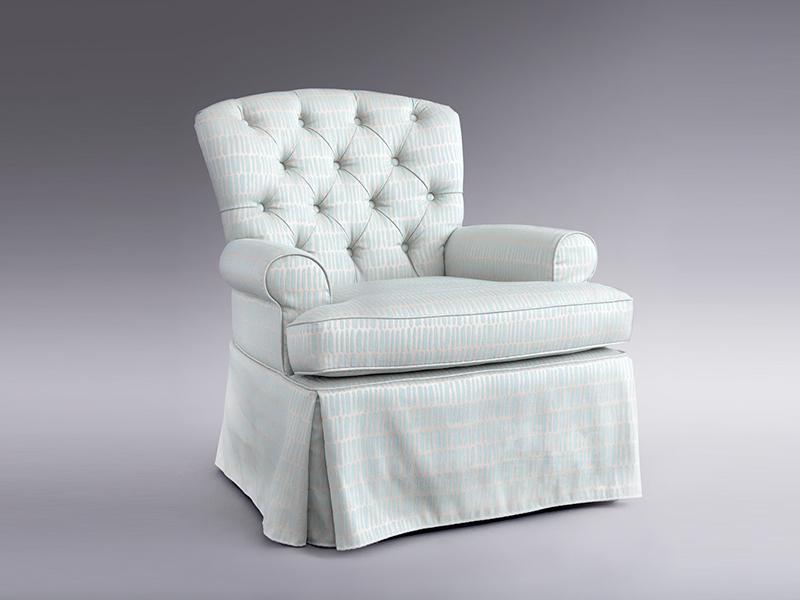 君诺家居·丹尼诗·莱克家具轻奢客厅桃花芯木实木布艺休闲椅/老虎椅2925休闲椅