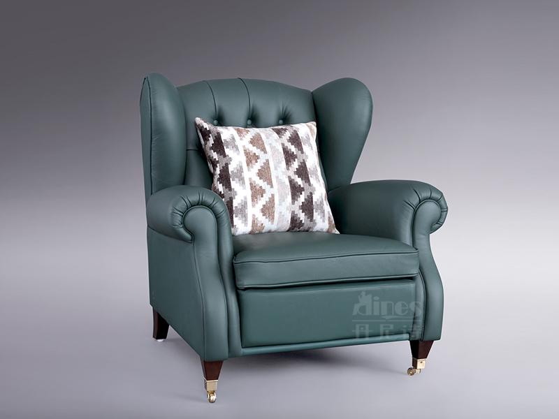 君诺家居·丹尼诗·莱克家具轻奢客厅桃花芯木实木皮艺老虎椅