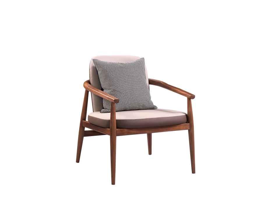 柏森优品LD+实木中式客厅休闲椅P3701XC