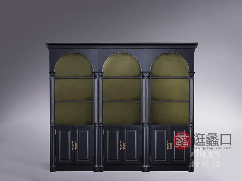 君诺家居·丹尼诗·莱克家具轻奢客厅桃花芯木实木置物架/储物柜LK001
