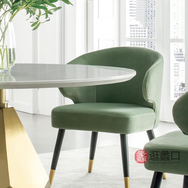 纽约现代美式轻奢人造大理石不锈钢镀金拉丝防指纹油圆餐桌1190487餐桌