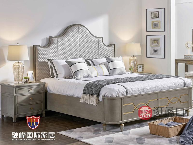 爵典家居·融峰国际家具美式卧室床PV09-14床