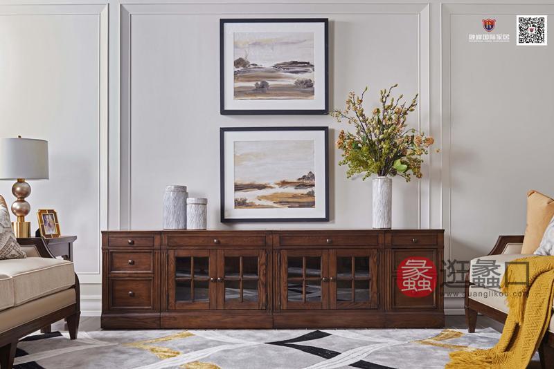 爵典家居·融峰国际家具美式客厅电视机柜DT-01电视柜