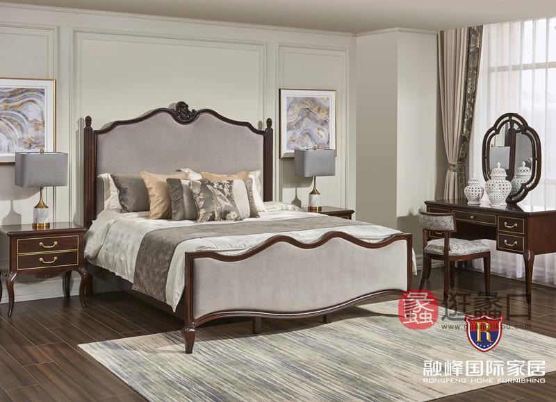 爵典家居·融峰国际家具美式卧室床PV09-12床