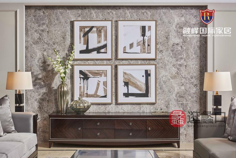 爵典家居·融峰国际家具美式客厅电视机柜DT-05电视柜