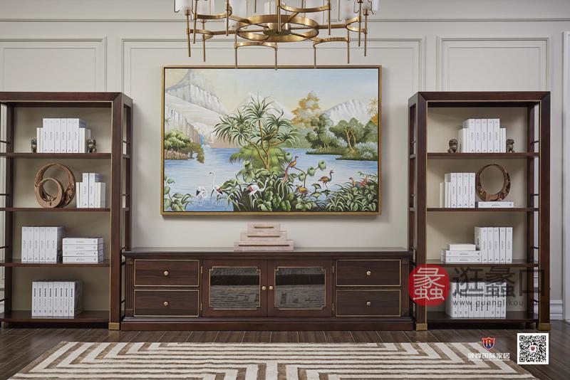爵典家居·融峰国际家具美式客厅电视机柜DT-03电视柜