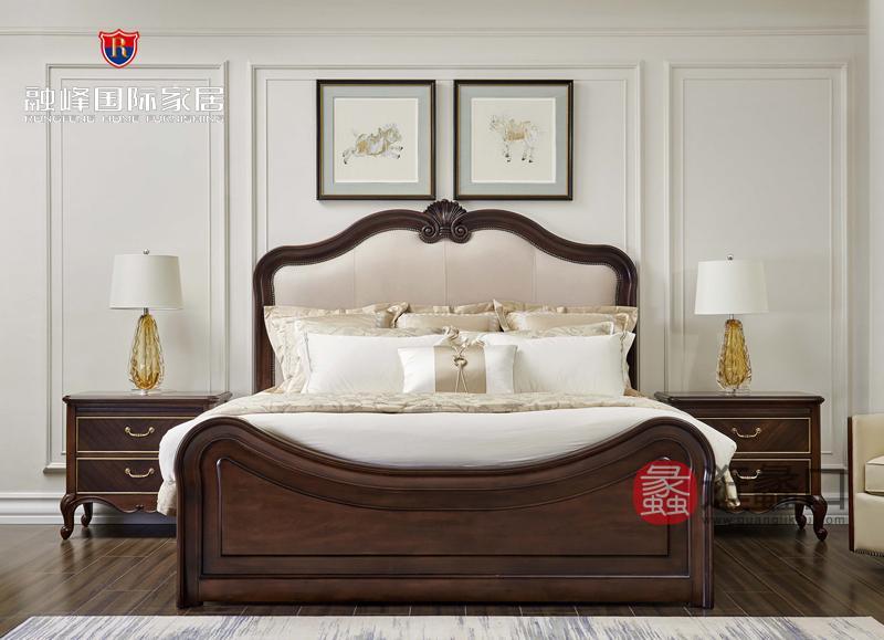 爵典家居·融峰国际家具美式卧室床PV09-16床