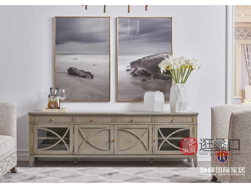 爵典家居·融峰国际家具美式客厅电视机柜DT-07电视柜