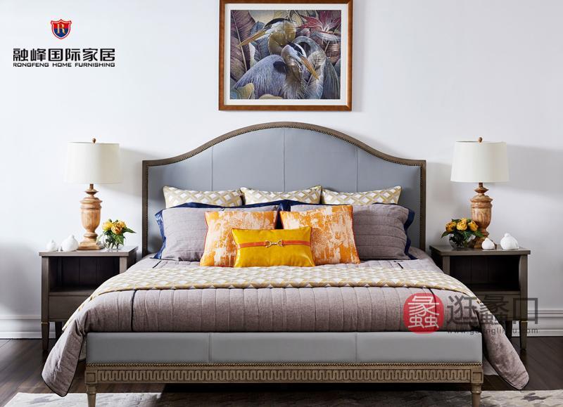 爵典家居·融峰国际家具美式卧室床PV10-13床