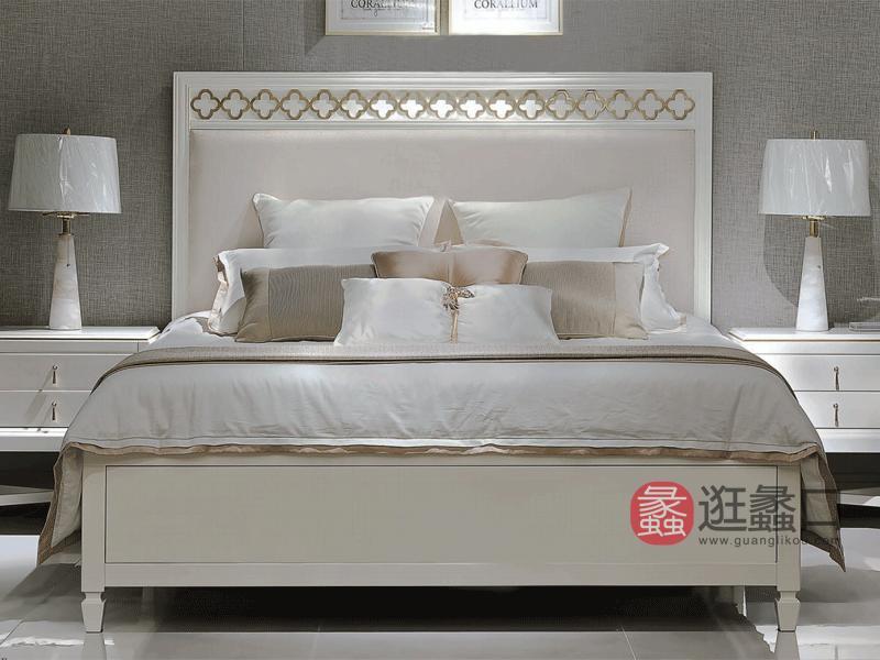 木语森林·LA现代轻奢整体家居欧式卧室床实木轻奢双人大床床头柜MY013