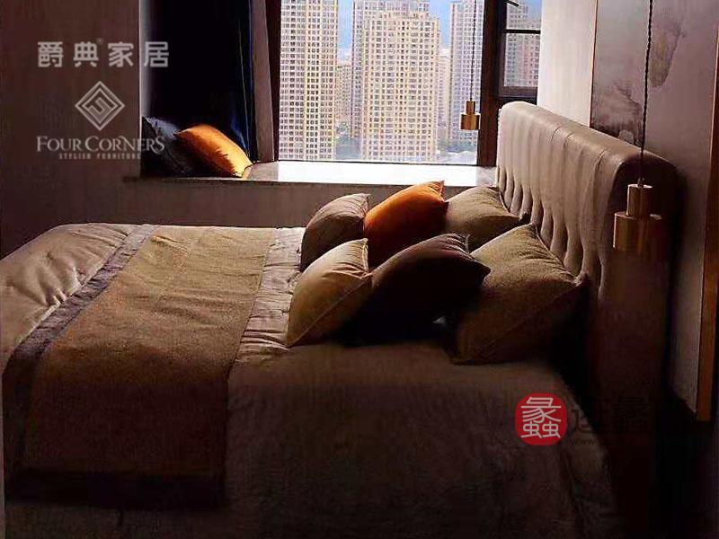 爵典家居·FC家具现代简约卧室舒适双人大床F035