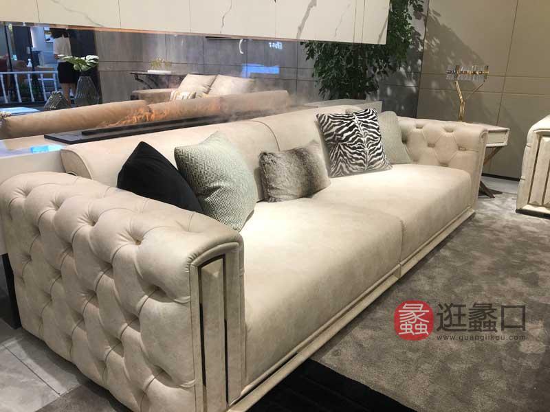 AM KASA简奢家具轻奢客厅沙发时尚皮沙发四人位沙发M007沙发