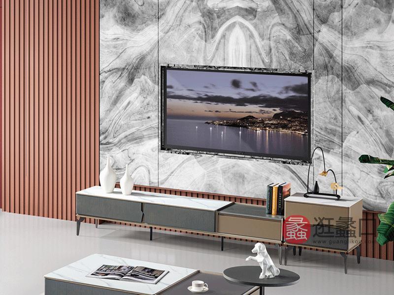 大城小爱家具现代客厅电视机柜LAJ1233电视柜+二斗柜