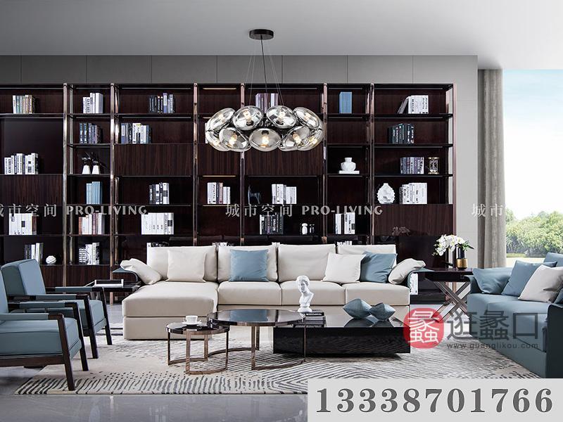 城市空间PRO-LIVING家具意式现代极简轻奢客厅沙发+茶几组合